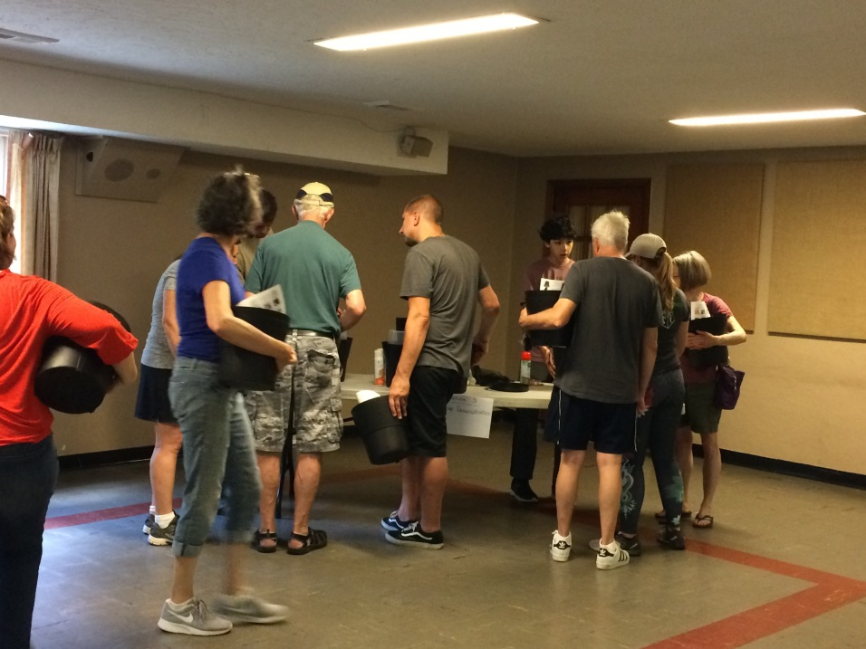 Residents getting hands-on training on GAT assembly